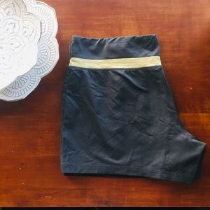 Grey spandex shorts